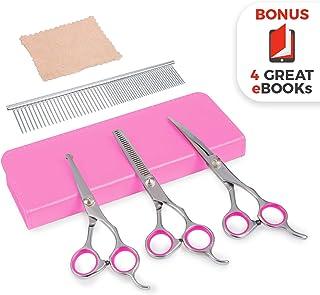 Premium Dog Grooming Scissors (Purple)