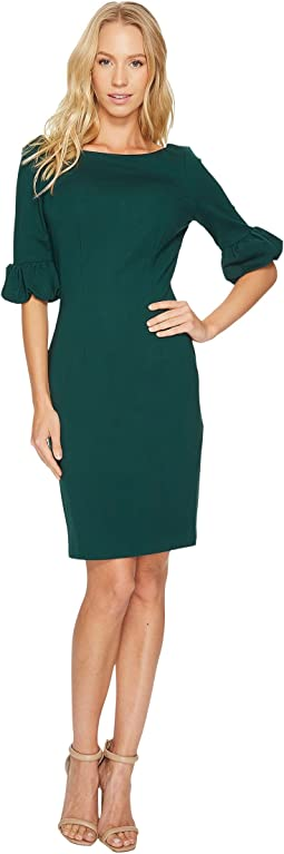 Adrianna Papell - Fitted Bishop Sleeve Shift