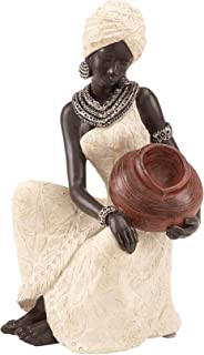 Deco 79 Benzara 44694 Table Top Polystone African Figure Sculpture