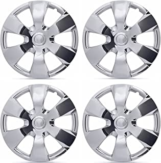 BDK KT-1000-16-C_King1 Chrome 16 Hubcaps Wheel Covers for Toyota Camry (16 inch) – Four (4) Pieces Corrosion-Free & Sturdy – Full Heat & Impact Resistant Grade – OEM Replacement, 4 Pack