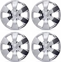"""BDK KT-1000-16-C_King1 Chrome Hub Caps Covers for 16"""" Wheels – Four (4) Pieces Corrosion-Free & Sturdy – Full Heat & Impact Resistant Grade – Replacement"""