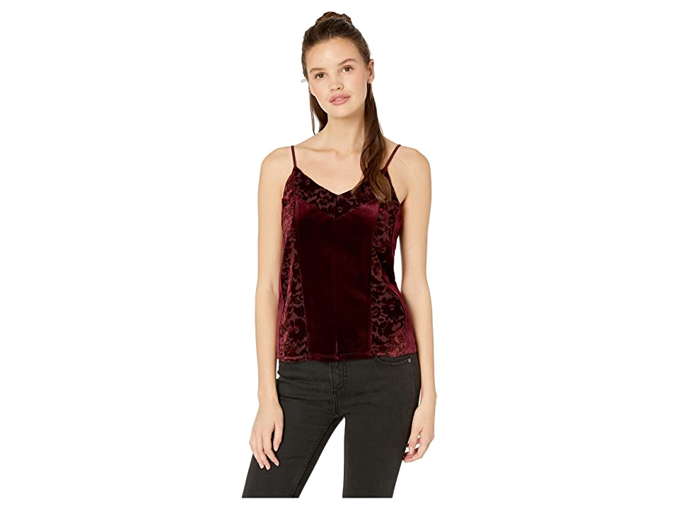 Miss Me Floral Contrast Cami (Burgundy Red) Women