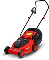 Sharpex Electric Lawn Mower   Folding Handle, 1200 Watt,15 Mtr Cable and Detachable Collection Box   Adjustable Height...