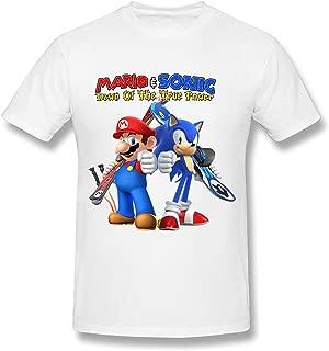 WunoD Men's Mario&Sonic T-Shirt