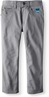 365 Kids Boy's Stretch Twill Patched Monster Crew Pants (Medium Grey)