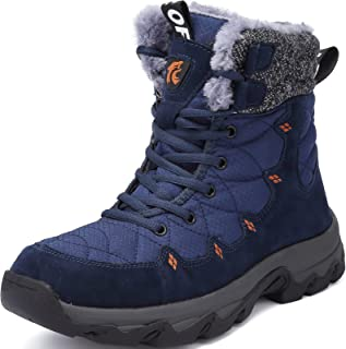 Lvptsh Botas de Nieve Hombre Invierno Botines Zapatos ntideslizantes Calentar Forradas Impermeables Zapatillas de Senderis...