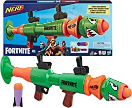 NERF Fortnite Rl Blaster -- Fires Foam Rockets -- Includes 2 Official Fortnite Rockets -- for Youth, Teens, Adults