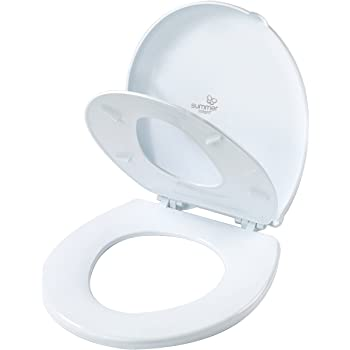 Summer 2-in-1 Toilet Trainer (Round) - Potty Training Seat - Toddler & Adult Space-Saving Potty Topper