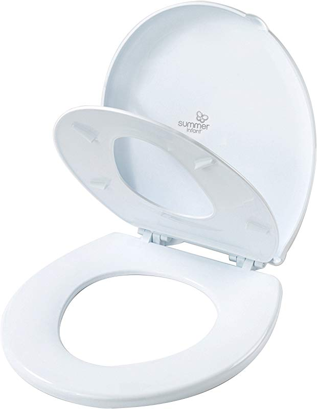 Summer Infant 2 In 1 Toilet Trainer Round Potty Training Seat Toddler Adult Space Saving Potty Topper