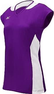 Mizuno Women's Classic Mystic Cap Sleeve Jersey, XX-Large, Black/White
