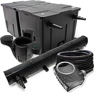 WilTec-Kit de filtrado con Bio-Filtro UV 72 60000l Esterilizador Bomba de Estanque