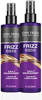 John Frieda Frizz Ease Daily Nourishment Conditioner, 2-pack, 8 Ounce Leave-in Conditioner for Frizz-prone Hair, with Vita...