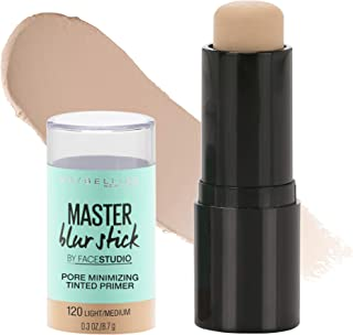 Maybelline New York Facestudio Master Blur Stick Primer Makeup, Light/Medium, 0.3 oz.