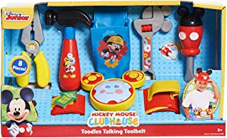 Disney Mickey Toodles Talk'n Toolbelt and Kids Play Tool Accessories for Contruction and Building Role Play and Dress Up, ...