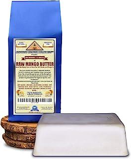Organic Unrefined Raw MANGO BUTTER 1 LB (16 oz) BLOCK Bulk, Light Mango Aroma, Non-Greasy Base for Beauty, Skin Moisturizi...