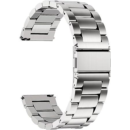 Fullmosa Cinturini per Orologio, Cinturino in Acciaio Inossidabile 22/20/18/16mm, Fibbia in Acciaio Inossidabile, Compatible con Amazfit/Huawei/Samsung/Casio/Fossil/Garmin/Michael Kors/Timex