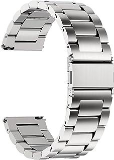 Fullmosa Bracelet SamsungGearS3Classic/Frontier Bracelet 22mm Argenté Bracelets de Montre en Acier Inoxydable pour Homm...