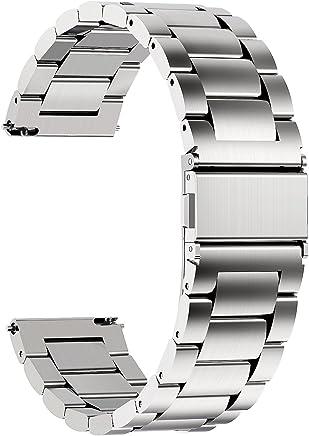 915cb2ce62 時計バンド ベルト20mm ステンレス、Fullmosa スマートウォッチバンド ベルト 腕時計バンド 18mm 20mm 22mm