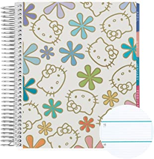 "$66 » Weekly Planner 8.5"" x 11"" 12 Month Spiral Bound Horizontal Weekly Life Planner (Jan - Dec 2022) - Hello Kitty Metallic Ast..."