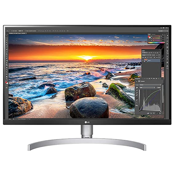 LG Ultrafine 27 Inch 4K (3840 x 2160) IPS Display - VESA HDR 400, sRGB 99%, USB-C with 60W Power Delivery, Color Calibrated, Hardware Calibration - HAS & Pivot Stand - 27UL850- White
