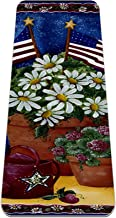 Yoga Mat - Amerikaanse madeliefjes decoratieve patriottische zomer madeliefje bloem usa - Extra dikke antislip oefening & ...