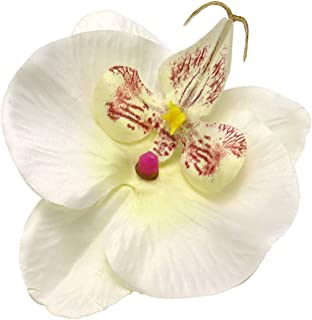 JETEHO 20 pcs White Purple Phalaenopsis Orchid Silk Flower Heads Fake Butterfly Orchid Head Floral Bouquets for Wedding Flowers Accessories Make Bridal Hair Clips Headbands Dress