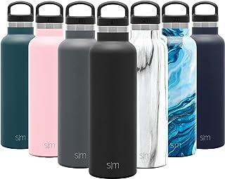 Simple Modern Ascent Water Bottle, 20oz Handle Lid, Midnight Black
