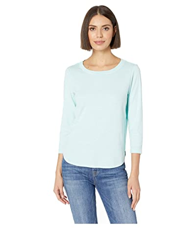 Tommy Bahama Ashby Rib 3/4 Sleeve Tee (Blue Orchid) Women