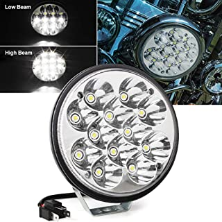 Feux de circulation diurnes pour voiture ou camion 42 W 6000 K 12 V 24 V Rond LED Lampe de travail Spot de conduite Lampe de conduite Feux de circulation diurnes pour voitures