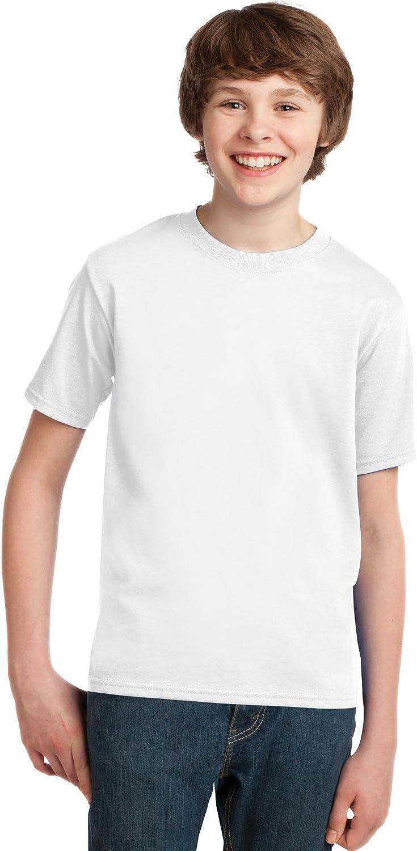 Port & Company - Youth Essential T-Shirt, PC61Y, White, XL