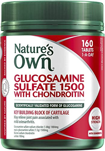Nature's Own Glucosamine Sulfate 1500 with Chondroitin - Maintains Healthy Joints - Eases Mild Osteoarthritis Pain, 1...