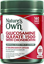Nature's Own Glucosamine Sulfate 1500 with Chondroitin - Maintains Healthy Joints - Eases Mild Osteoarthritis Pain, 160 Tablets