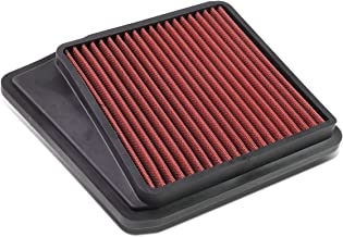 For Acura TSX Reusable & Washable Replacement High Flow Drop-in Air Filter (Red) - CU2
