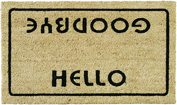 Rubber Cal Hello Welcome Goodbye Funny Doormat 18 X 30 Inch
