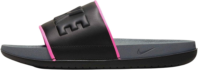 Nike Women's Offcourt Slide Sandal Dark grey/pink size 12