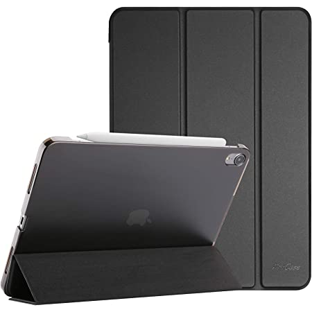 """ProCase iPad Air 4 Case 10.9 Inch 2020 iPad Air 4th Generation Case A2316 A2324 A2325 A2072, Slim Stand Hard Back Shell Protective Smart Cover Cases for iPad Air 10.9"""" 4th Gen 2020 -Black"""