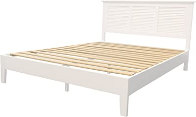 Target Marketing Systems Ansel Queen Wood Platform Bed, White