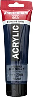 Royal Talens Amsterdam Standard Series Acrylic Color, 120ml Tube, Prussian Blue Phthalo (17095662)