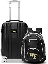 """Wake Forest University Deacons 2-Piece Luggage Set, Includes 21-inch Two-Tone Hardcase Spinner and 19"""" Laptop Backpack"""