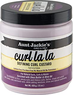 Aunt Jackie's Curl La La, Lightweight Curl Defining Custard, Creates Long Lasting Curly Hair with Mega-moisture Humectant...