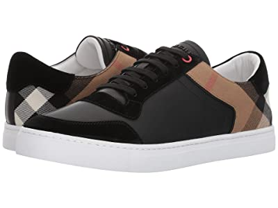Burberry Reeth House Check Low Top Sneaker (Black) Men