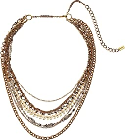 Multi Layer Gold Short Necklace