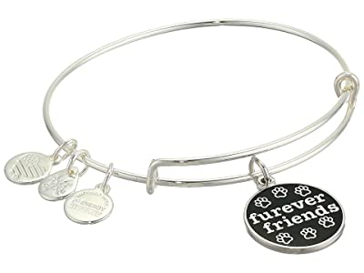 Alex and Ani Color Infusion, Furever Friends Bangle Bracelet (Shiny Silver) Bracelet