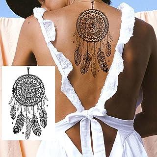 Tijdelijke Tatoeages 3 Vellen Zwarte Mandala Bloem Tijdelijke Tattoos Sticker Voor Vrouwen Sexy Nep Sieraden Kettingen Tat...