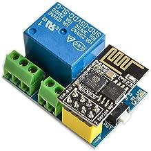 TOOGOO Modulo de Rele WiFi ESP8266 ESP-01S 5V Interruptor de control remoto inteligente para el hogar para Arduino Aplicacion de telefono Modulo de WiFi inalambrico ESP01S