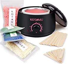 Wax Warmer Kit, KOTAMU Hair Removal Waxing Kit with 4 Hard Wax Beans Target for Bikini..