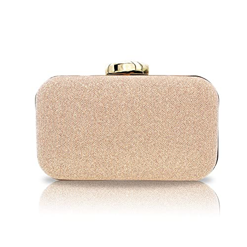 8bf0cceb7a Artemis'Iris Elegant Rose Gold Clutch Purse Crossbody Bags for Ladies,  Eye-catching