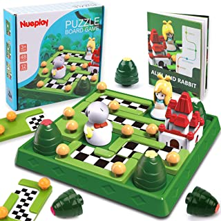 Nueplay Kids Smart Games Skill-Building Logic Travel Board Game STEM Educational Learning Toys 48 Challenges IQ Puzzle Bra...