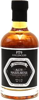 Hallingers Premium Nuss-Brand 350ml - Alter Haselnuss 40% vol. Exklusivflasche - zu Bayern & Volksfeste Für Sie Für Ihn
