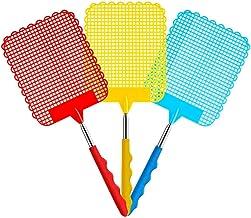 Heatigo 3 farbige Fliegenklatschen herausgezogen Werden, einziehbare einziehbare..